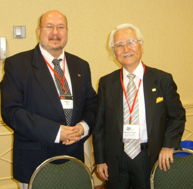 Dr. Tim and one of his mentors, Masaaki Imai at the Second Canadian Quality Congress